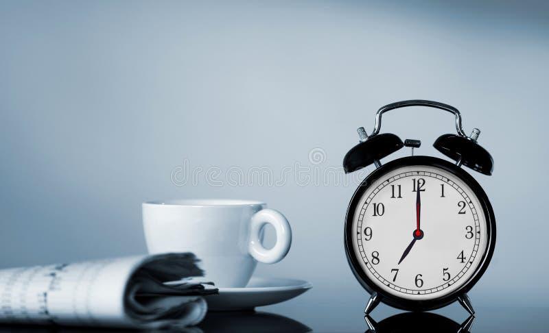 早晨时间概念 免版税库存照片