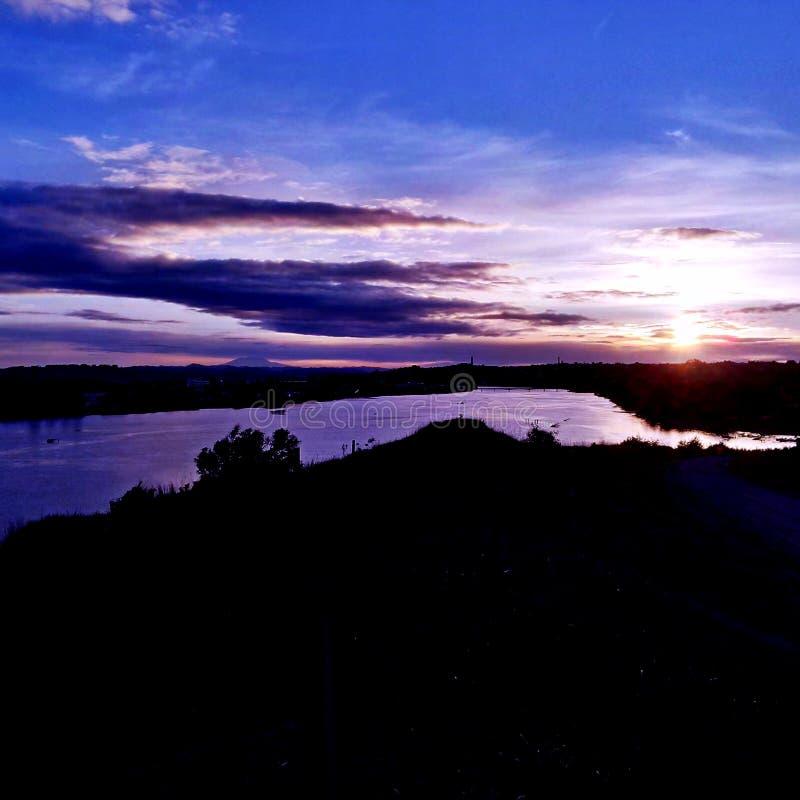 早晨河 库存图片