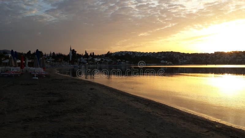 早晨海边 库存照片
