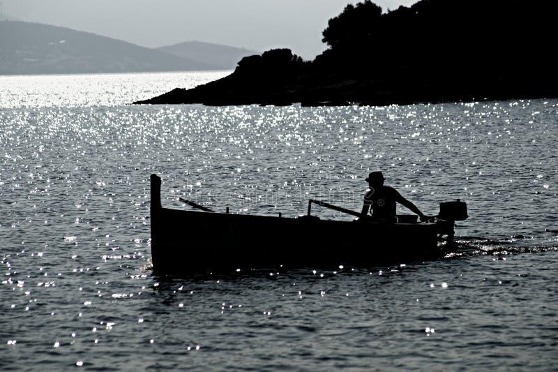 早晨渔夫 免版税库存图片