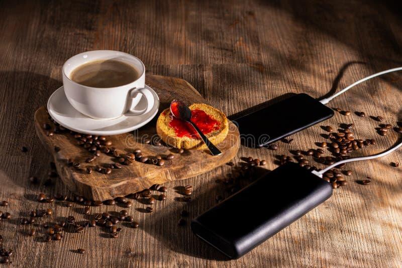 早晨的咖啡休息 库存图片