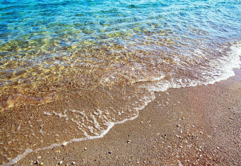 早晨-田园诗希腊海岛透明水和新鲜空气 库存图片