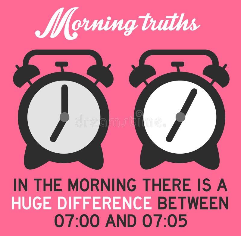 早晨 向量例证
