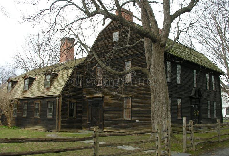 早期的新英格兰殖民地居民 免版税库存照片
