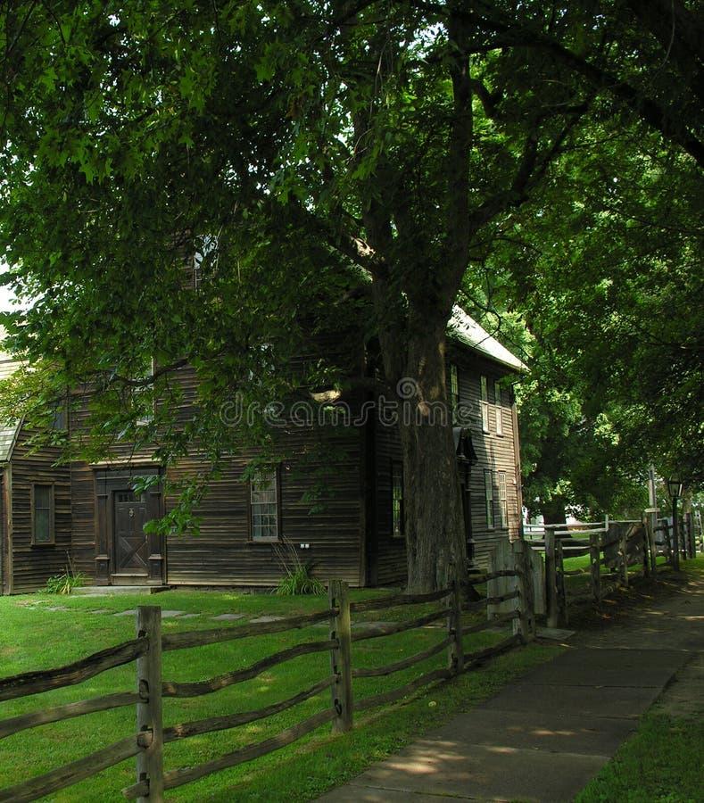 早期的新英格兰殖民地居民 图库摄影