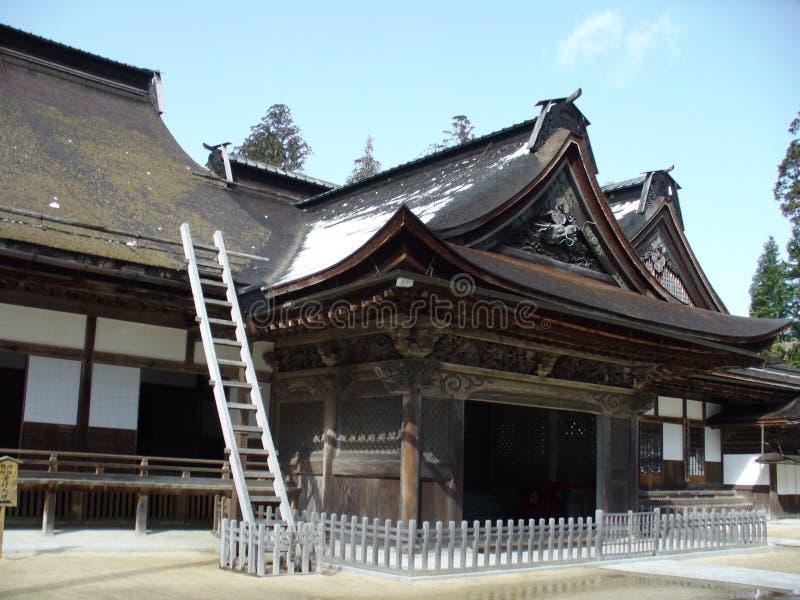 早期的日本春天寺庙 免版税库存图片