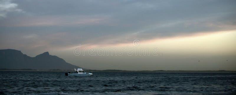 早期的横向早晨海运 库存图片