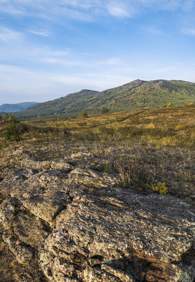 早期的秋天的乌拉尔山 库存照片