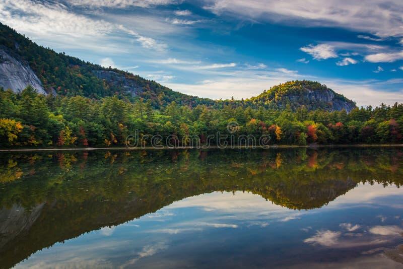 早秋天颜色和反射在Echo湖Echo湖状态的 图库摄影
