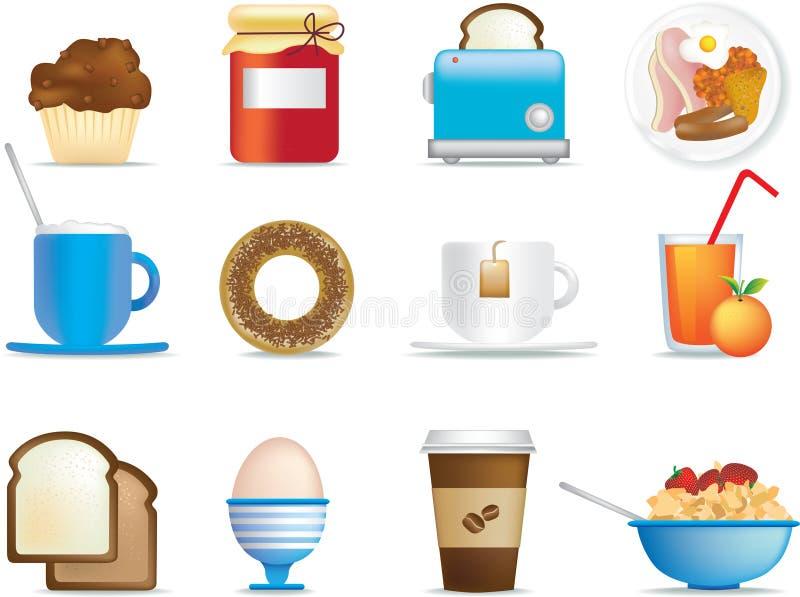 早餐图标 库存例证