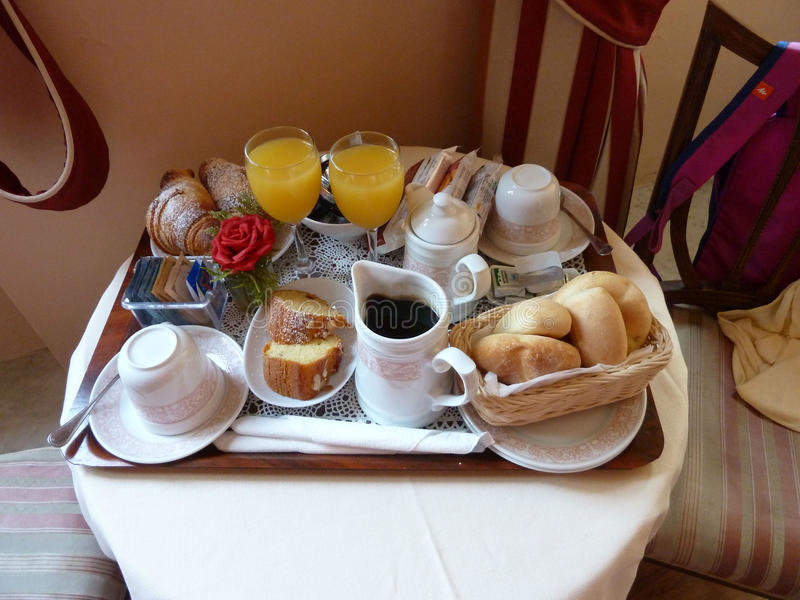早餐在意大利 免版税库存照片