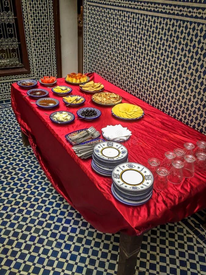 早餐在Morocoo 免版税图库摄影