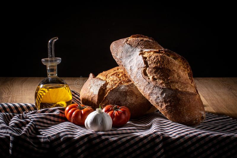 早餐地中海饮食 免版税库存照片
