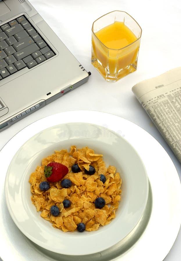 早餐工作 免版税库存照片