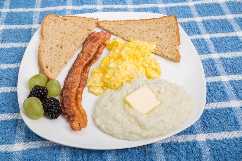 早餐板材装饰用果子 库存图片