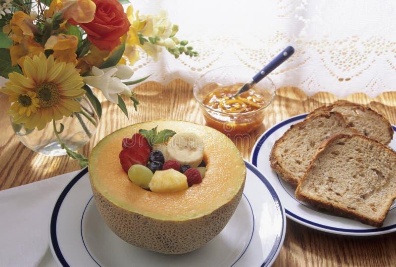 早餐果子健康多士 库存图片