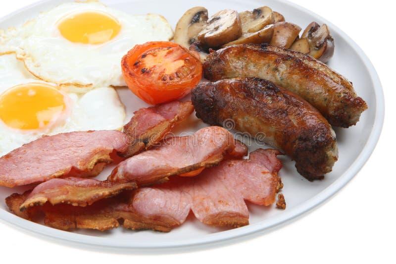 早餐油煎的煮熟的英语 免版税库存图片