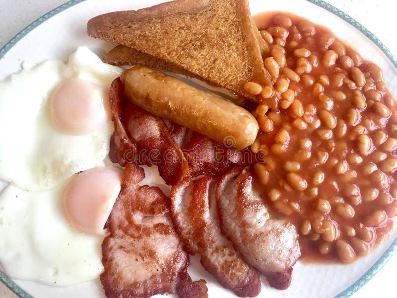 早餐烹调了 免版税库存照片