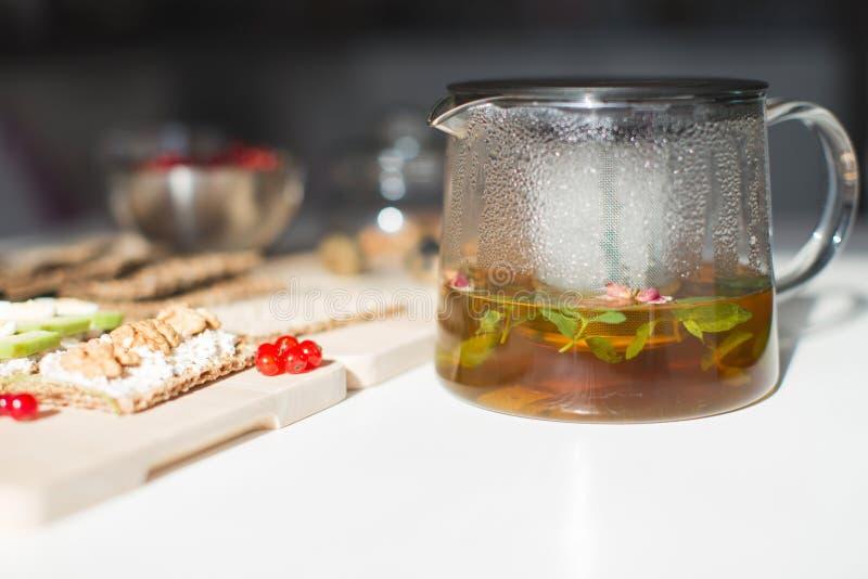 早餐用茶 免版税图库摄影