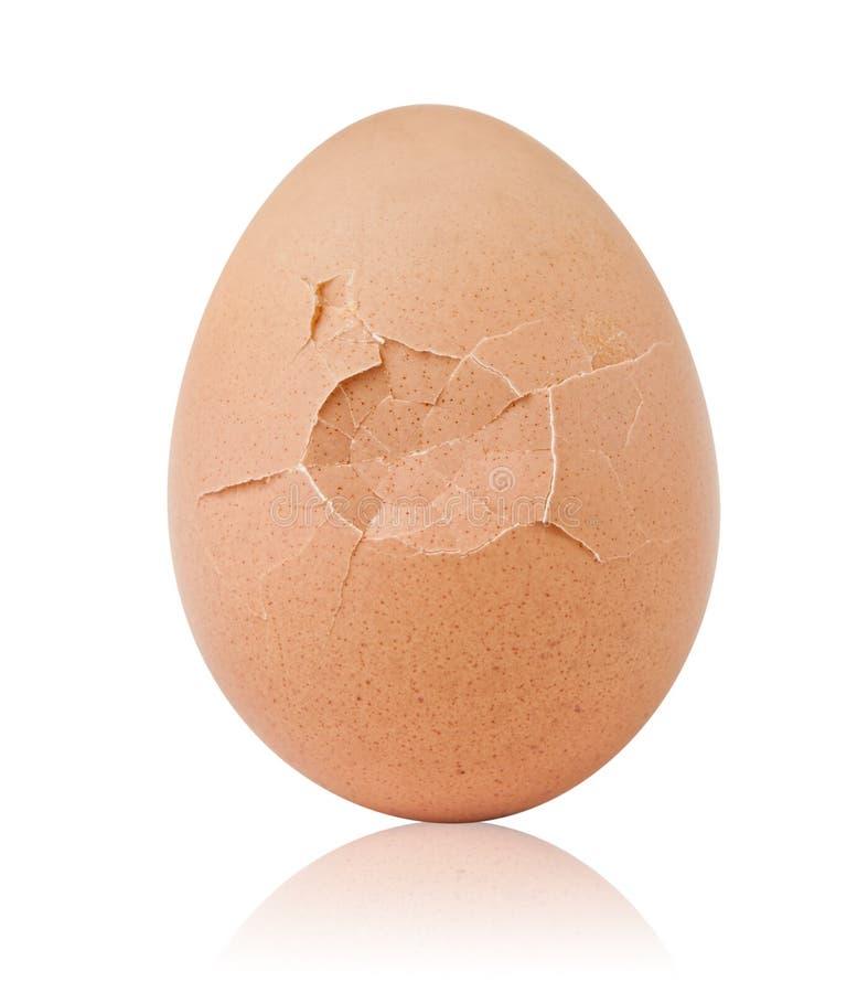 早餐破裂的鸡蛋 库存照片