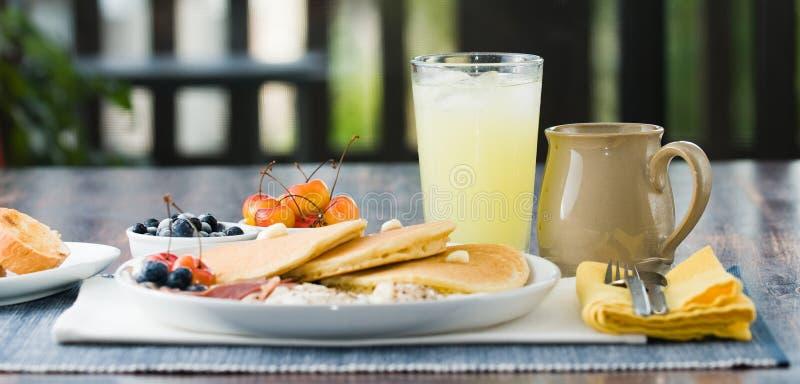 早餐美食 库存图片