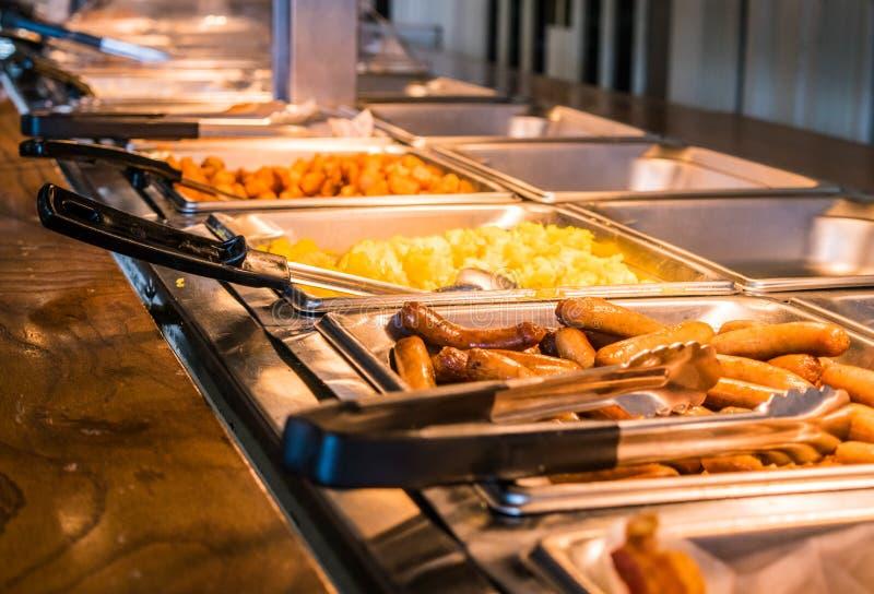 早餐自助餐 免版税图库摄影