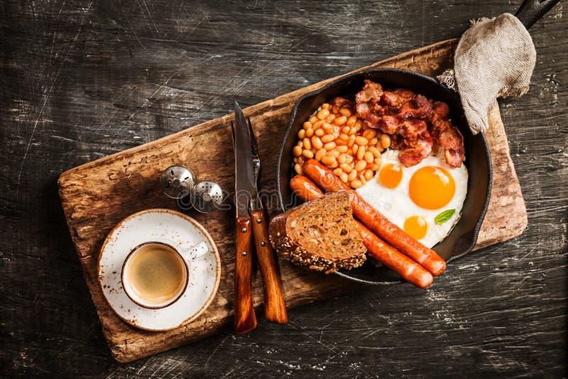 早餐英国传统 免版税库存图片