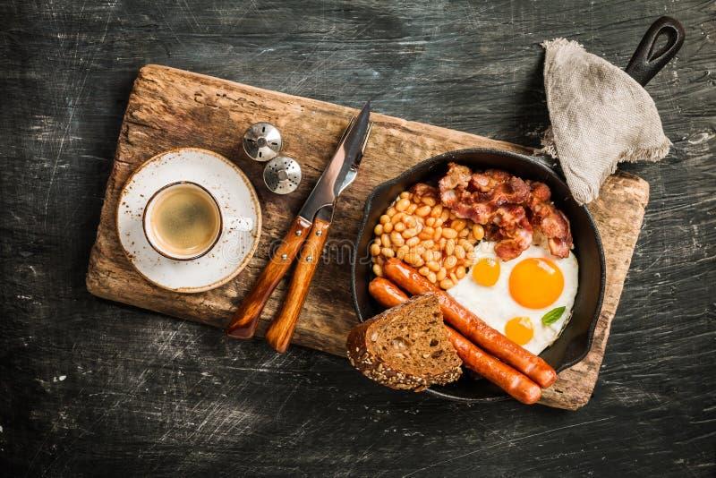 早餐英国传统 库存照片