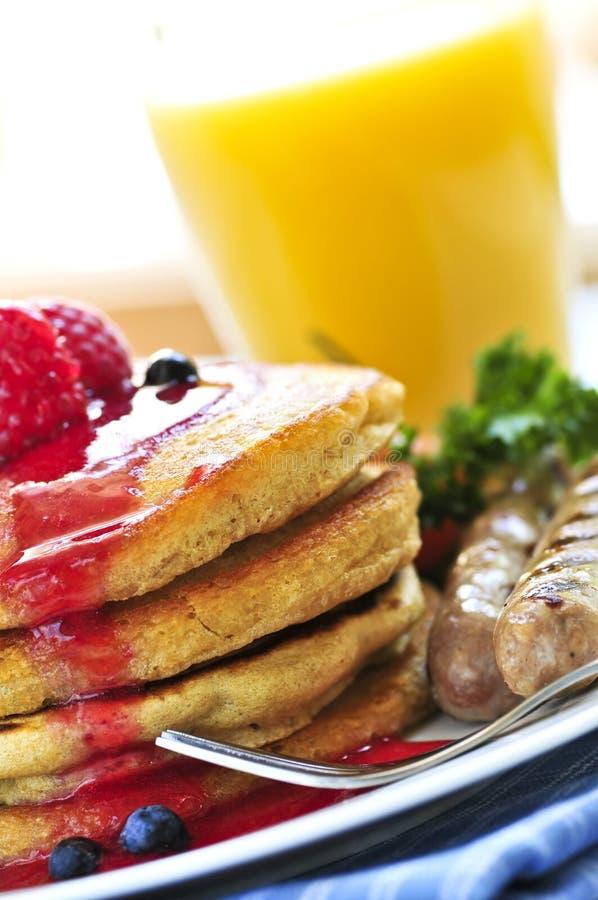 早餐薄煎饼 免版税库存图片