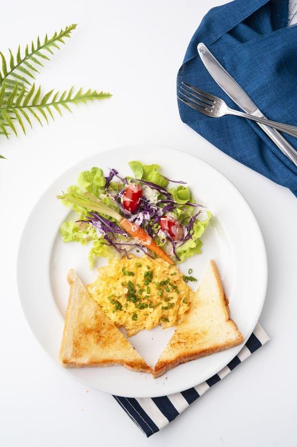 早餐蛋菜 库存照片