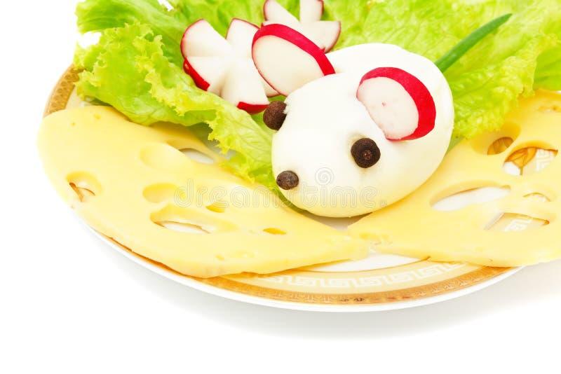 早餐蛋鼠标 库存图片