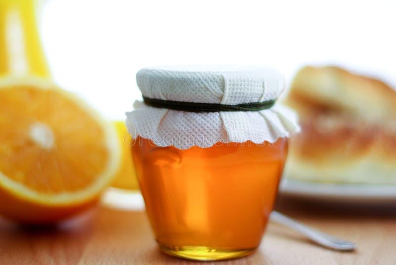 早餐蜂蜜 库存照片