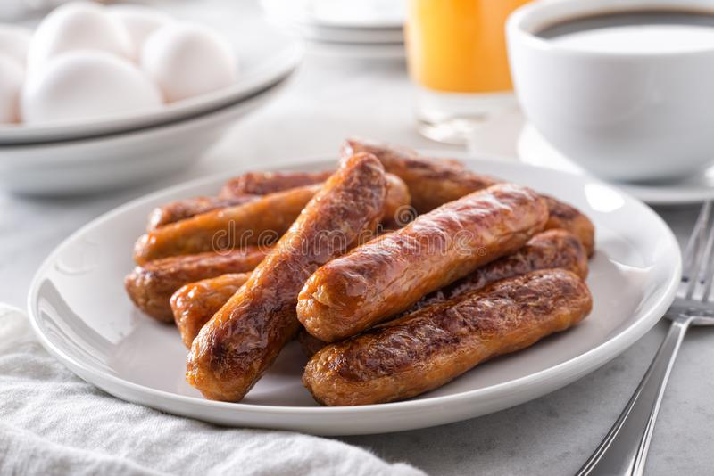 早餐香肠 免版税库存图片