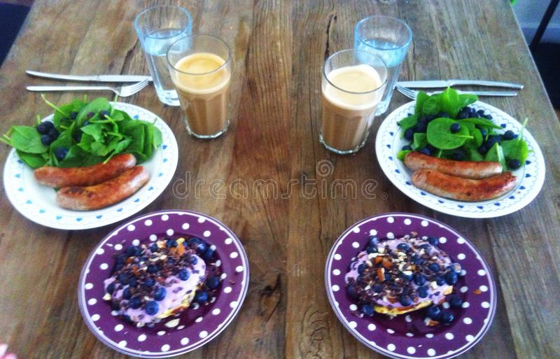早餐pæleo 图库摄影