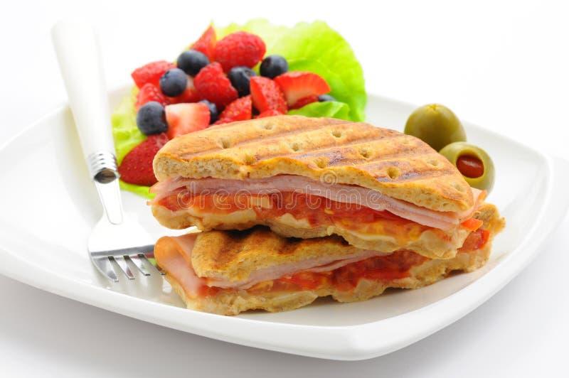 早餐panini 库存图片