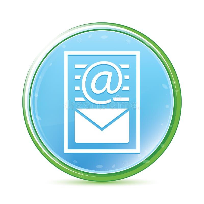 时事通讯文件页象自然水色深蓝蓝色圆的按钮 向量例证