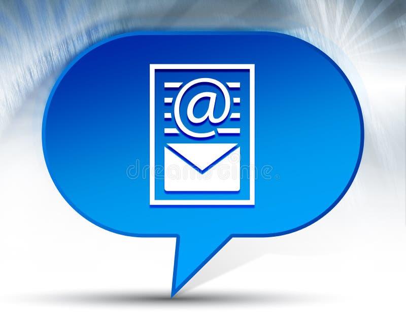 时事通讯文件页象蓝色泡影背景 向量例证