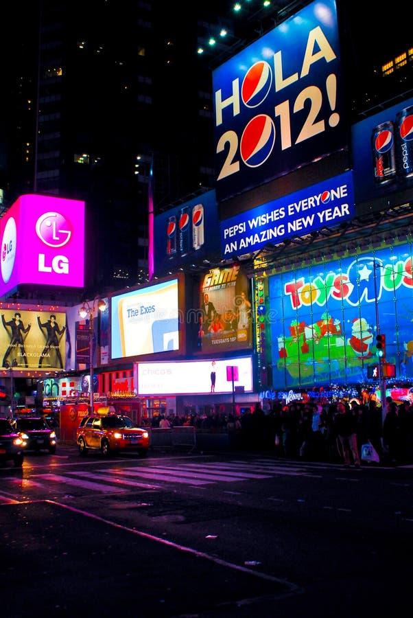 时代广场, NYC 2012年 图库摄影