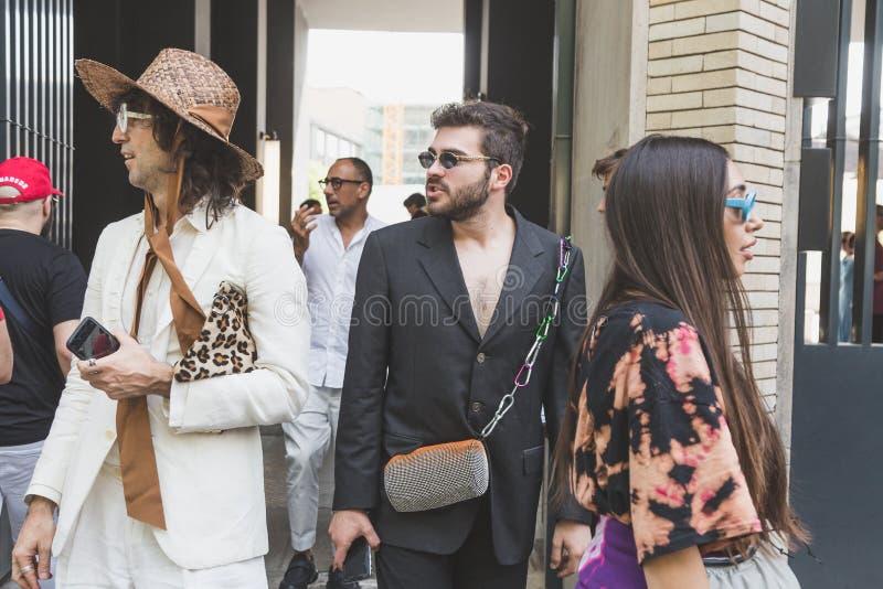 时兴的人米兰人的时尚星期 图库摄影