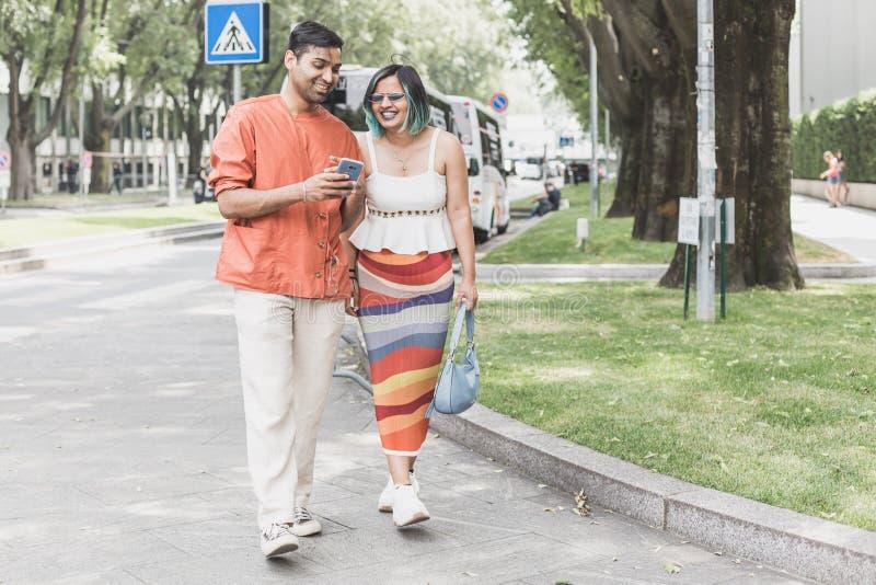 时兴的人米兰人的时尚星期 库存图片
