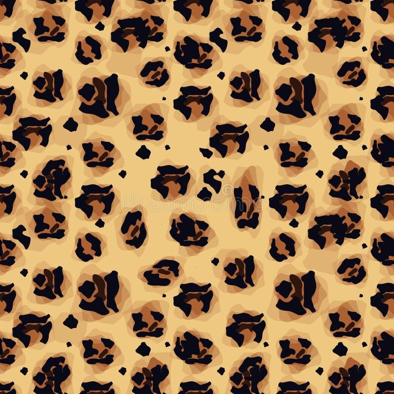 时兴的豹子无缝的样式 时尚的被传统化的被察觉的豹子皮肤背景,印刷品,墙纸,织品 向量例证
