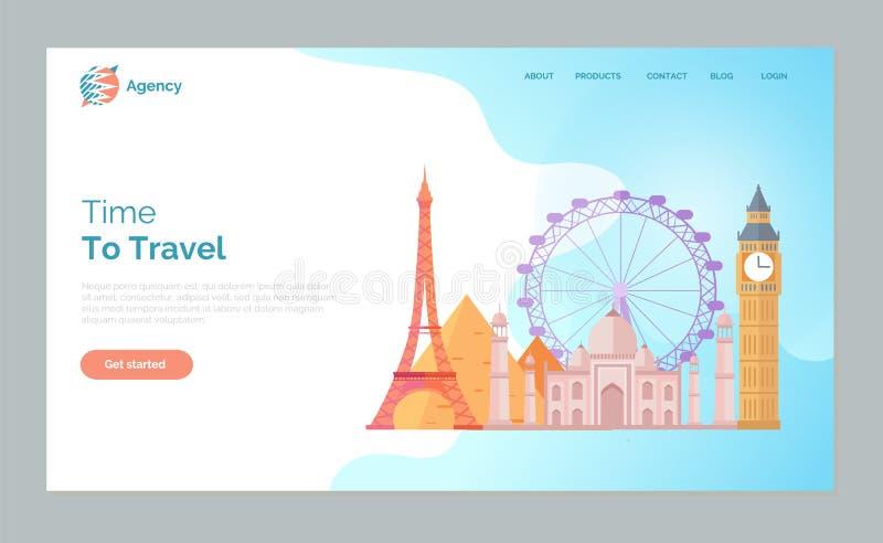 时刻旅行世界,巴黎伦敦地标  皇族释放例证
