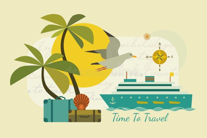 时刻旅行海报 向量例证