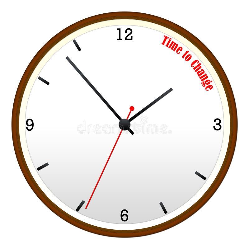 时刻更改木壁钟概念 皇族释放例证