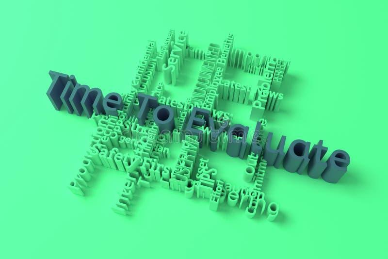 时刻评估,企业主题词词覆盖 r 3d?? 皇族释放例证