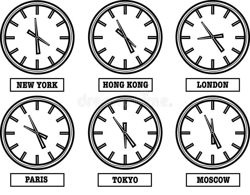 时区 向量例证