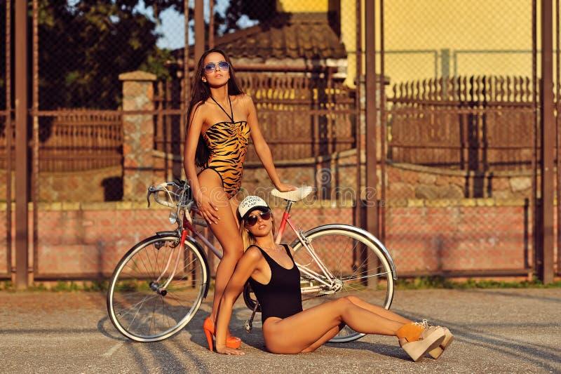 时尚两名性感的妇女样式照片  库存照片