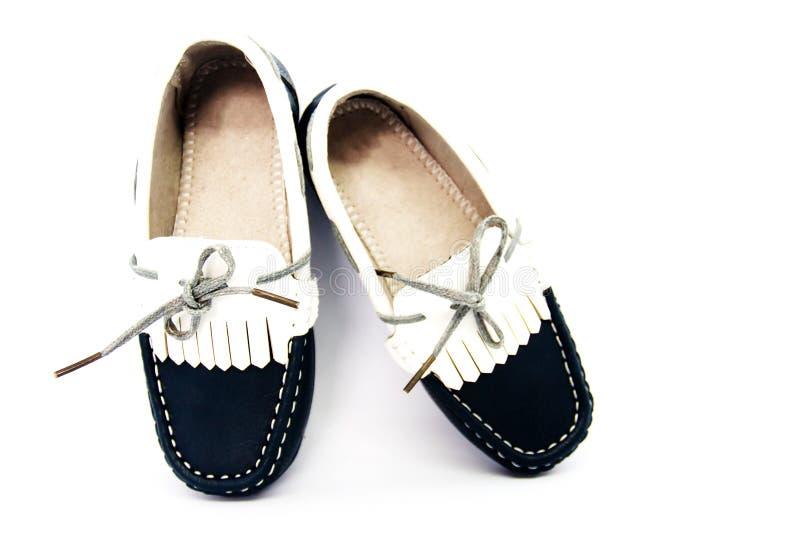 时尚哄骗在白色背景隔绝的鞋子 库存图片