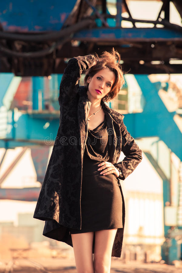 时尚在港口 免版税库存照片