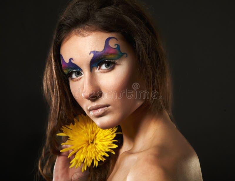 时尚女性模型画象  库存照片